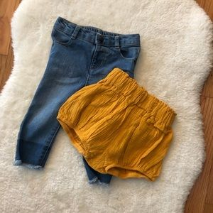 Other - Linen Bloomers and Skinny Infant Jeans